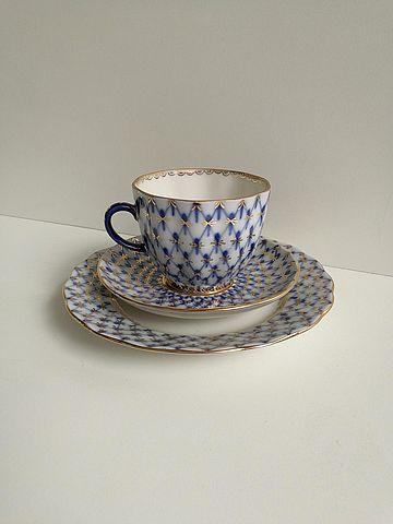 Servizio di tazzine da caffè della manifattura Lomonosov