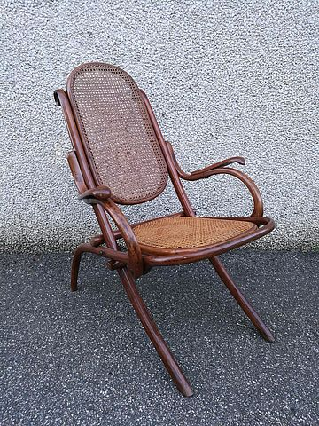 Kohn sedia sdraio legno curvato