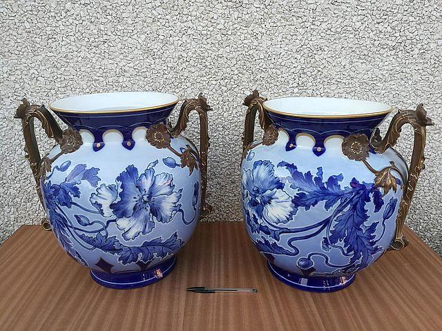 Coppia di vasi tedeschi Jughendstil