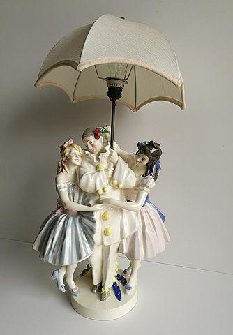Keramos, rara lampada in ceramica firmata Podany