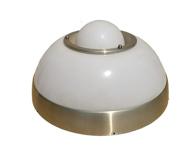 lumi, lampada, soffitto, spaceage, vetro, plafoniera, ceilinglamp, vetro, bianco, white, glass, 1960s, 1970s,