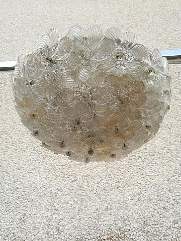 Venini, lampada, soffitto, rosette, vetro, glass, soffiato, murano, anni, 70, 80, illuminazione, lighting, design,