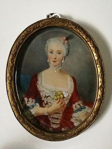 miniatura, avorio, ritratto, piccolo, Duprè, Elisabeth, dipinto